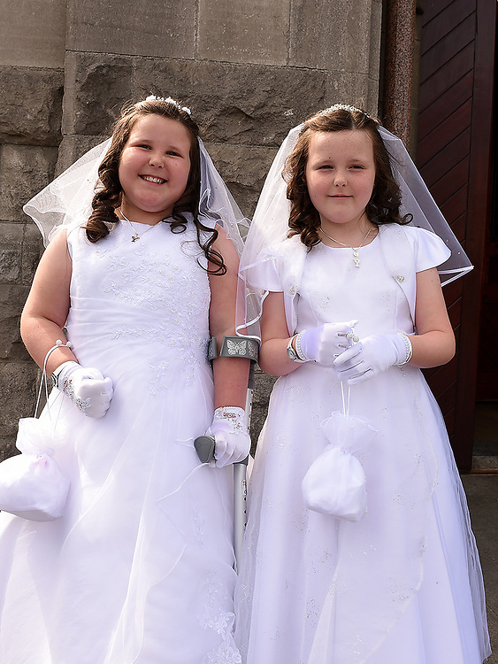 Twins Melaine and Madeline Lane from St. Mary's school who received First Holy Communion in St. Mary's church.  Photo:Colin Bell/pressphotos.ie