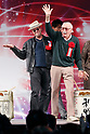 (L to R) Actor Michael Rooker and comic book writer Stan Lee, attend the opening ceremony for the Tokyo Comic Con 2017 at Makuhari Messe International Exhibition Hall on December 1, 2017, Tokyo, Japan. This is the second year that San Diego Comic-Con International held the event in Japan. Tokyo Comic Con runs from December 1 to 3. (Photo by Rodrigo Reyes Marin/AFLO)