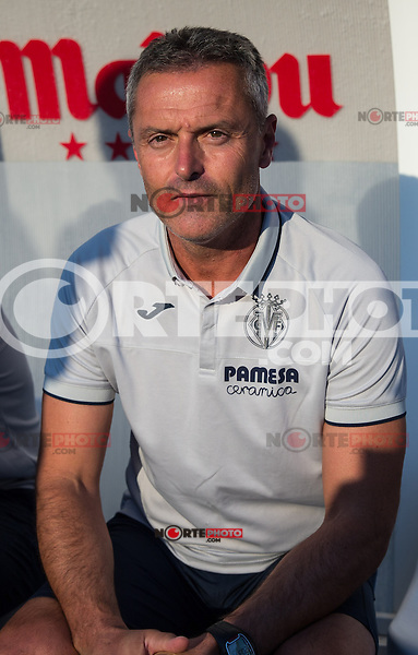 Villarreal's coach Fran Escriba during the XXXVII trophy of Legane's City between CD Leganes and Villarreal CF at Butarque Stadium. August 13, 2016. (ALTERPHOTOS/Rodrigo Jimenez) /NORTEPHOTO