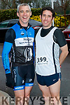 John O'Sullivan and Cian Hogan (Endurance Racing), who took part in the Optimal Fitness 10 miler and 5k road race, at The Rose Hotel, Tralee, on Sunday morning last.