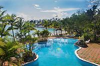 Honduras, Roatan Island, Fantasy Island Resort, Caribbean. Hotel pool.