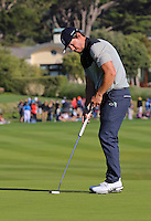 160213 Actor Mark Wahlberg during Saturday's Third Round of The AT&T Pebble Beach National Pro-Am in Carmel. California. (photo credit : kenneth e. dennis/kendennisphoto.com)