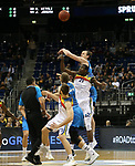 19.03.2019, Mercedes Benz Arena, Berlin, GER, EuroLeague/EuroCup, ALBA ERLIN vs.  MoraBanc Andorra, <br /> im Bild Dennis Clifford (ALBA Berlin #33), Moussa Diagne (Andorra #21)<br /> <br />      <br /> Foto © nordphoto / Engler