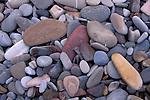 Stones and rocks on beach at Spooner Cove, Montana de Oro State Park, near Morro Bay, California