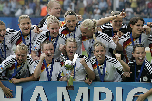01 08 2010  U20 Women World Cup Final Germany versus Nigeria Germany receives the Cup for the FIFA U20 Women World Cup 2010 in Germany