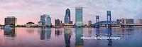 63412-01003 Jacksonville skyline at dusk, Jacksonville, FL