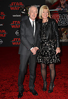 Anthony Daniels &amp; Christine Savage at the world premiere for &quot;Star Wars: The Last Jedi&quot; at the Shrine Auditorium. Los Angeles, USA 09 December  2017<br /> Picture: Paul Smith/Featureflash/SilverHub 0208 004 5359 sales@silverhubmedia.com