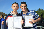 Cian McKenna and Jason Clarke with there Leaving cert result..Picture Fran Caffrey www.newsfile.ie