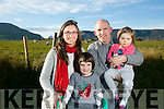 Annascaul Family whose daughter Hannah has Rhetts Syndrome one of only 70 in the country are thanking the The Jack and Jill Children's Foundation for all their support ahead of a fundraiser for the Charity .l-r  Nancy Lily, Brendan, Hannah  Falvey