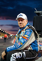 Jul 19, 2019; Morrison, CO, USA; NHRA funny car driver John Force during qualifying for the Mile High Nationals at Bandimere Speedway. Mandatory Credit: Mark J. Rebilas-USA TODAY Sports