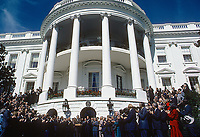 Washington DC., USA, October 4, 1984<br /> President Ronald Reagan with the Republican House and Senate candidates on the South Lawn Credit: Mark Reinstein/MediaPunch