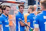 UTRECHT - Jasper Luijkx (Kampong) na de wedstrijd met links zijn broer Pepijn Luijkx (Kampong) tijdens de hoofdklasse competitiewedstrijd mannen, Kampong-Bloemendaal (2-2) . COPYRIGHT KOEN SUYK