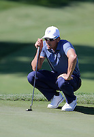 Raffa Cabrera-Bello (Team Europe) on the 1st green during the Friday afternoon Fourball at the Ryder Cup, Hazeltine national Golf Club, Chaska, Minnesota, USA.  30/09/2016<br /> Picture: Golffile | Fran Caffrey<br /> <br /> <br /> All photo usage must carry mandatory copyright credit (&copy; Golffile | Fran Caffrey)