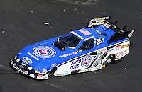 Sep 14, 2013; Charlotte, NC, USA; The car of NHRA funny car driver Robert Hight during qualifying for the Carolina Nationals at zMax Dragway. Mandatory Credit: Mark J. Rebilas-