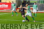 Kerry's Sabastian Vasiu and Bray Wanderers  Glen Hollywood keep their eyes on the ball. during their encounter in the in the U19 League of Ireland game in Mounthawk Park on Sunday.