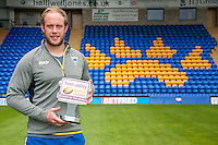 Picture by John Davidson/SWpix.com 05/08/2015 Rugby League Super League First Utility Player of the Month - Chris Hill Warrington -<br /> copyright picture - Simon Wilkinson - simon@swpix.com