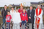 Anthony Nagle the only student from Hollymount NS with Bishop Bill Murphy, Fr Con Buckley and his family after he made his Confirmation in Rathmore on Monday l-r: David, John, Christopher, Ann, Anthony Nagle, Bishop Bill Murphy, gerard, William Nagle and Fr Con Buckley