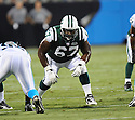 DAMIEN WOODY, of the New York Jets in action during the Jets game against the Carolina Panthers  at Bank of America Stadium in Charlotte, N.C.  on August 21, 2010.  The Jets beat the Panthters 9-3 in the second week of preseason games...