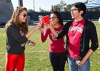Camille Brown, Sarahi Zaldumbide and JR Lesanse performs before Saturday, November 23, 2013, Big Game at Stanford University.