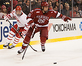 Kieffer Bellows (BU - 9), Jacob Olson (Harvard - 26) - The Harvard University Crimson defeated the Boston University Terriers 6-3 (EN) to win the 2017 Beanpot on Monday, February 13, 2017, at TD Garden in Boston, Massachusetts.