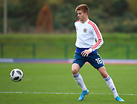 16th November 2019; Leckwith Stadium, Cardiff, Glamorgan, Wales; European Championship Under 19 2020 Qualifiers, Russia under 19s versus Wales under 19s; Kirill Kosarev of Russia Under 19 during warm up - Editorial Use