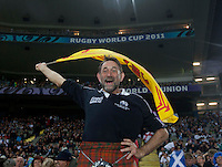 Rugby World Cup Auckland England v Scotland  Pool B 01/10/2011.Scotland fan celebrates Scotland taking the lead (Scotland).Photo  Frey Fotosports International/AMN Images