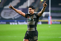 Picture by Alex Whitehead/SWpix.com - 10/03/2017 - Rugby League - Betfred Super League - Hull FC v St Helens - KCOM Stadium, Hull, England - Hull FC's Albert Kelly celebrates the win.