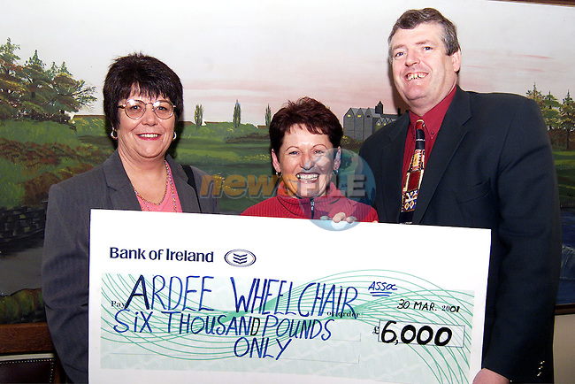 Mary Harty and Anne Carie who went on a sponsered  walk in Thailand and raised £6,000 for Ardee Wheelchair. Also pictured is Cllr. Finnan McCoy..Picture: Paul Mohan/Newsfile