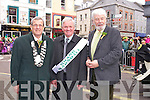 St. Patrick's Day Parade Tralee : Tralee Mayor Pat Hussey with the Grand Marshall Kerry Group Chairman Denis Buckley and Johnnie Wall