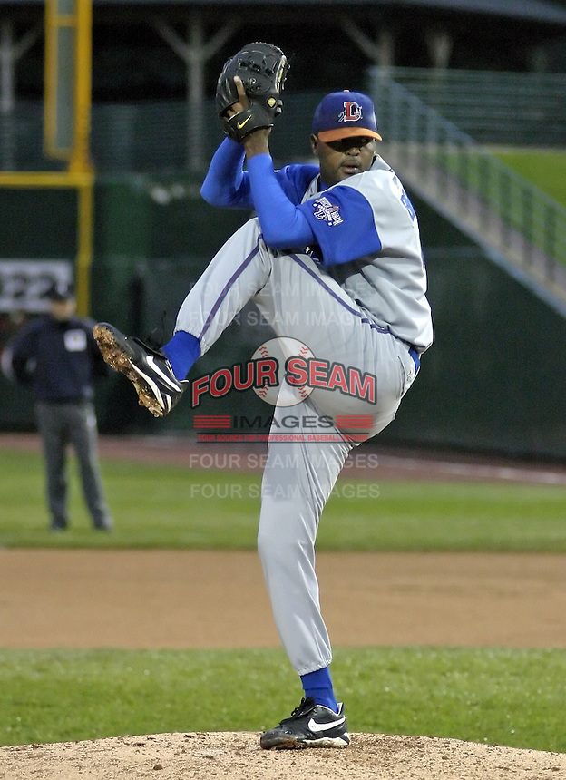 May 8, 2004:  Dewon Brazelton of the Durham Bulls, International League (AAA) affiliate of the Tampa Bay Devil Rays, during a game at Frontier Field in Rochester, NY.  Photo by:  Mike Janes/Four Seam Images