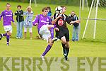 Tralee Dynamos Brian Murphy and Shamrock Rovers Sean Gannon.