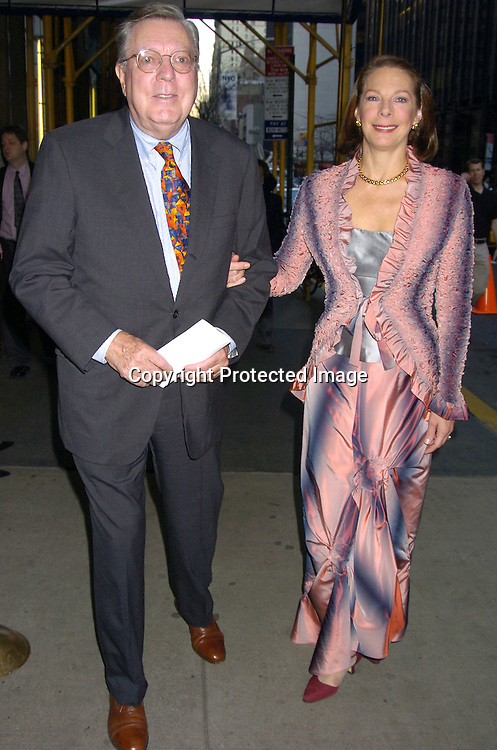 Richard and Peggy Hayes..arriving at the Martha Graham Dance Company Opening Night Gala on April 6, 2005 at New York City Center. ..Photo by Robin Platzer, Twin Images