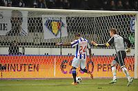 VOETBAL: SC HEERENVEEN: Abe Lenstra Stadion, 17-02-2012, SC-Heerenveen-NAC, Eredivisie, Eindstand 1-0, Luciano Narsingh, Jelle ten Rouwelaar, ©foto: Martin de Jong