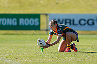 The Wyong Roos play Cessnock Goannas in Round 7 of the Ladies League Tag Newcastle Rugby League Competition at Morry Breen Oval on 30th of August, 2020 in Kanwal, NSW Australia. (Photo by James Quigley/LookPro)
