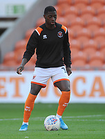 Blackpool's Sullay Kaikai during the pre-match warm-up <br /> <br /> Photographer Kevin Barnes/CameraSport<br /> <br /> The Carabao Cup First Round - Blackpool v Macclesfield Town - Tuesday 13th August 2019 - Bloomfield Road - Blackpool<br />  <br /> World Copyright © 2019 CameraSport. All rights reserved. 43 Linden Ave. Countesthorpe. Leicester. England. LE8 5PG - Tel: +44 (0) 116 277 4147 - admin@camerasport.com - www.camerasport.com