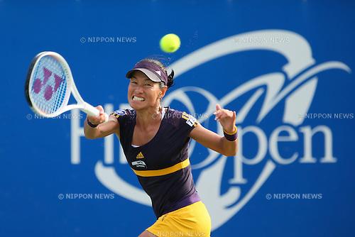 Kimiko Date-Krumm (JPN), .OCTOBER 8, 2012 - Tennis : .HP japan Women's Open Tennis 2012, .Women's Singles first round match .at Utsubo Tennis Center, Osaka, Japan. .(Photo by Akihiro Sugimoto/AFLO SPORT) [1080]