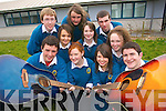 Students of Mercy Mounthawk school who will sing at an Amnesty International concert in the Helix in Dublin on 1st May, front, l-r: John O'Donnell, Katelyn Galvin, Michelle Williams and Jack Holland. Back, l-r: Conor Cleary, Yana Makliassova, Eoin Murphy, Rosie O'Dowd, Cillian Garvey and Julieanne O'Leary.   Copyright Kerry's Eye 2008