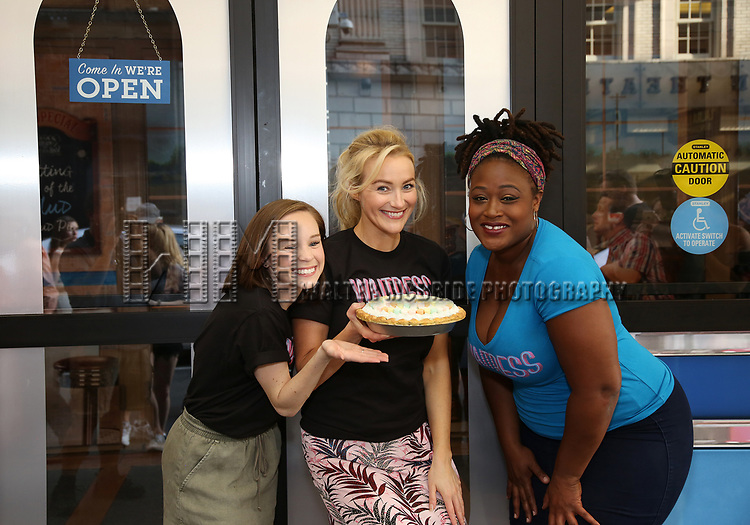 Cast members of 'Waitress' Caitlin Houlahan, Betsy Wolfe and Charity Angel Dawson attend the Welcome to Joe's Pie Diner at Brooks Atkinson on June 13, 2017 in New York City.