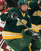 Kevin Tansey (Clarkson - 10) - The Harvard University Crimson defeated the visiting Clarkson University Golden Knights 3-2 on Harvard's senior night on Saturday, February 25, 2012, at Bright Hockey Center in Cambridge, Massachusetts.
