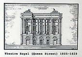The Theatre Royal (Queen St), Glasgow, a copy of one of the images gifted by actor Tony Roper to the Britannia Panoptican in Glasgow, after he presented the long-lost variety music hall with some ink drawings of old Glasgow theatres. The framed collection was given to Roper by the family of Ricki Fulton - picture by Donald MacLeod 05.03.09