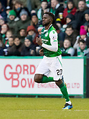 2nd February 2019, Easter Road, Edinburgh, Scotland; Ladbrokes Premiership football, Hibernian versus Aberdeen; Gael Bigirimana of Hibernian comes on for his debut