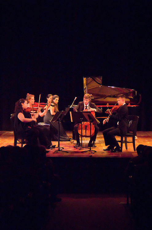 Centrum, Chamber Music Workshop, Fort Worden, June 16-21 2015, Azalea Quartet, Alin Melik-Adamyan, piano, Wheeler Theater, Port Townsend, Washington State, Pacific Northwest,