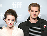 Claire Foy and Andrew Garfield attend 'Breathe' photo call during the 2017 Toronto International Film Festival at The Tiff Bell Lightbox on September 12, 2017 in Toronto, Canada.