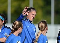 Kansas City, MO - Sunday September 04, 2016: Nicole Barnhart prior to a regular season National Women's Soccer League (NWSL) match between FC Kansas City and the Sky Blue FC at Swope Soccer Village.