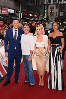 David Walliams, Simon Cowell, Amanda Holden and Alesha Dixon<br /> arrives to film for &quot;Britain's Got Talent&quot; 2017 at the Palladium, London.<br /> <br /> <br /> &copy;Ash Knotek  D3222  29/01/2017