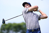 4th June 2017, Dublin, OH, USA;  Brett Coletta hits a tee shot on the ninth hole during the final round of The Memorial Tournament  at the Muirfield Village Golf Club in Dublin, OH.