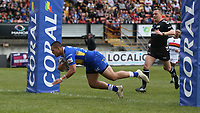 Leeds Rhinos' Tui Lolohea scores his side's first try <br /> <br /> Photographer Stephen White/CameraSport<br /> <br /> Rugby League - Coral Challenge Cup Sixth Round - Bradford Bulls v Leeds Rhinos - Saturday 11th May 2019 - Provident Stadium - Bradford<br /> <br /> World Copyright &copy; 2019 CameraSport. All rights reserved. 43 Linden Ave. Countesthorpe. Leicester. England. LE8 5PG - Tel: +44 (0 116 277 4147 - admin@camerasport.com - www.camerasport.com