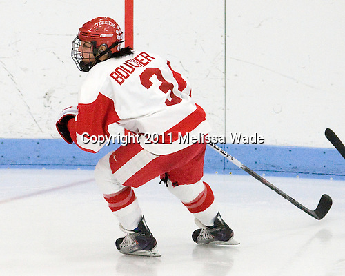 Kasey Boucher (BU - 3) - The Boston University Terriers defeated the visiting Mercyhurst College Lakers 4-2 in their NCAA Quarterfinal matchup on Saturday, March 12, 2011, at Walter Brown Arena in Boston, Massachusetts.