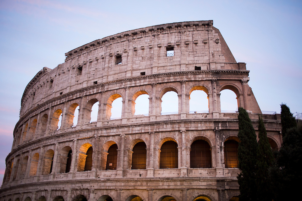 The Colosseum is seen on Tuesday, Sept. 22, 2015, in Rome, Italy. (Photo by James Brosher)