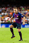 Arthur Melo of FC Barcelona controls the ball during their La Liga 2018-19 match between Valencia CF and FC Barcelona at Estadio de Mestalla on October 07 2018 in Valencia, Spain. Photo by Maria Jose Segovia Carmona / Power Sport Images